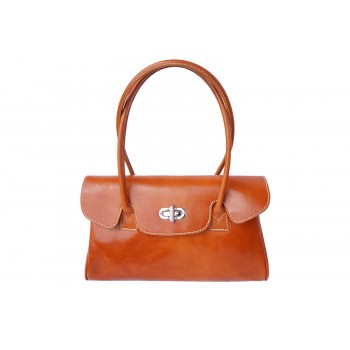 Lady Leather Handbag and Shoulderbag with 2 Handles