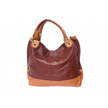 Two-Tone Handbag with Double Handle