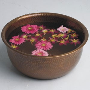 Copper Pedicure Bowls at PRI-VATE Spa Winnipeg